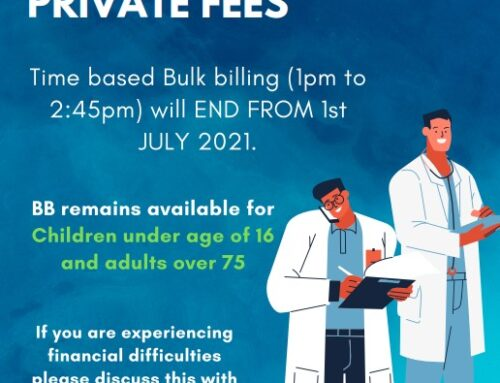 Bulk-Billing Hours end 1st July 2021, age based BB to continue